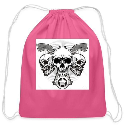Skulls - Cotton Drawstring Bag
