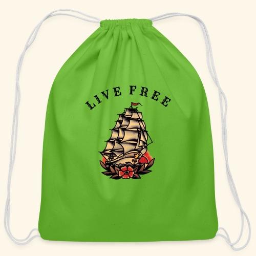 LIVE FREE - Cotton Drawstring Bag