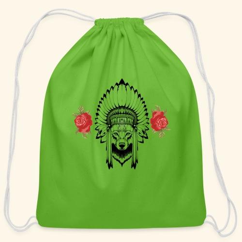 WOLF KING - Cotton Drawstring Bag