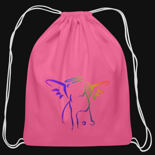 Angel Pup - Cotton Drawstring Bag