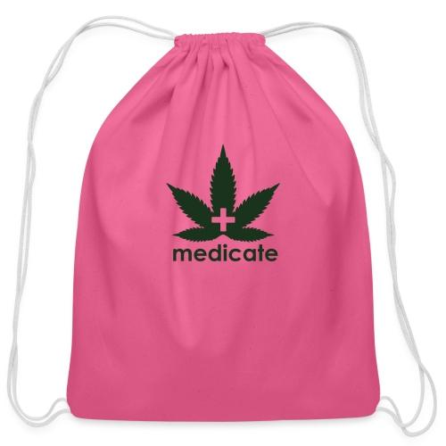 Medicate Supporter - Cotton Drawstring Bag