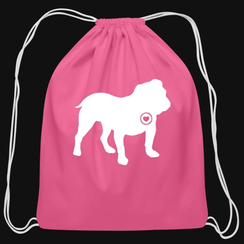 Bulldog love - Cotton Drawstring Bag