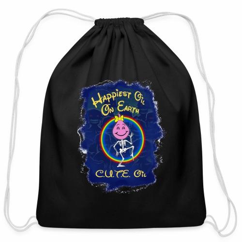 Cute Oil Girl - Cotton Drawstring Bag