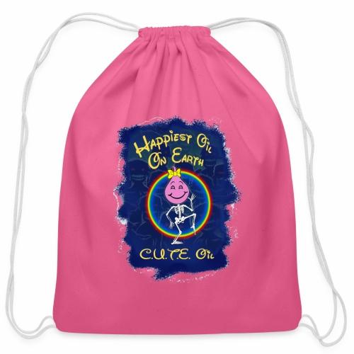 Cute Oil Dark - Cotton Drawstring Bag