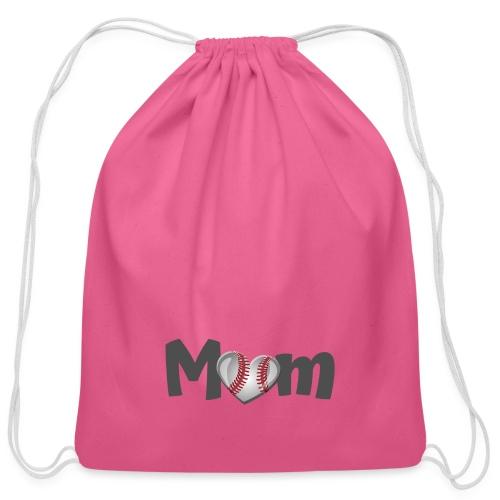 Baseball Mom - Cotton Drawstring Bag