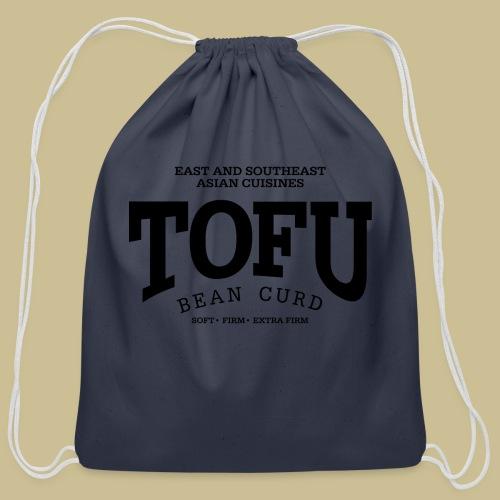 Tofu (black) - Cotton Drawstring Bag