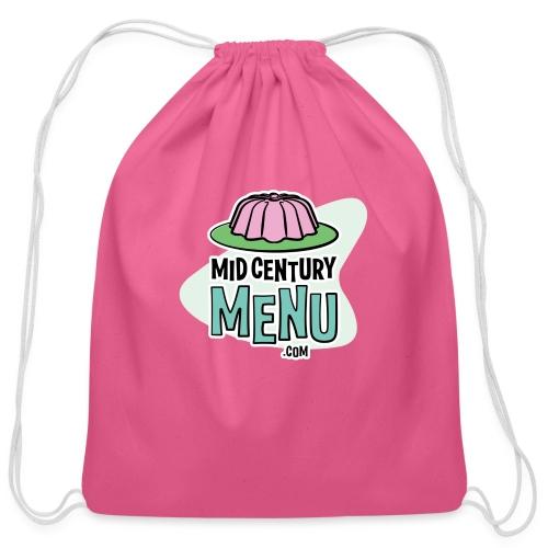 Mid-Century Menu Gelatin Mold Logo - Cotton Drawstring Bag