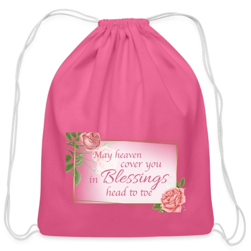 Blessings head to toe roses - Cotton Drawstring Bag