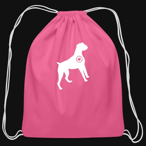 Boxer love - Cotton Drawstring Bag