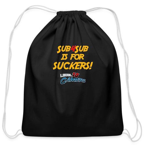 Anti Sub4Sub - Cotton Drawstring Bag