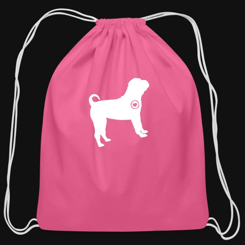 Shar Pei love - Cotton Drawstring Bag