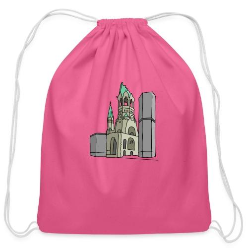 Memorial Church Berlin - Cotton Drawstring Bag