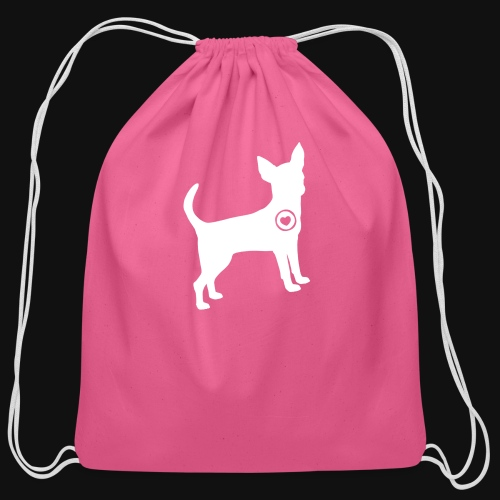 Chihuahua love - Cotton Drawstring Bag