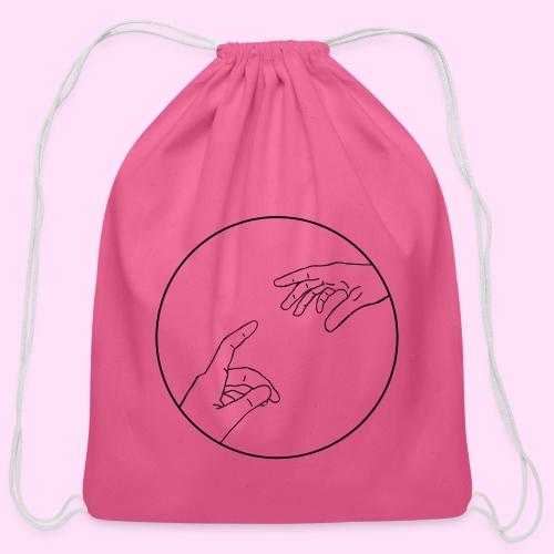 just keep reaching - Cotton Drawstring Bag