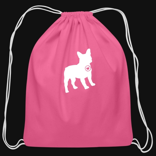 Frenchie love - Cotton Drawstring Bag