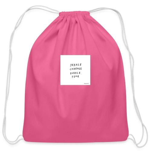 Inhale...exhale - Cotton Drawstring Bag