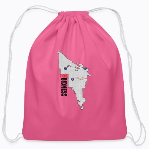 Toe Bidness - Cotton Drawstring Bag
