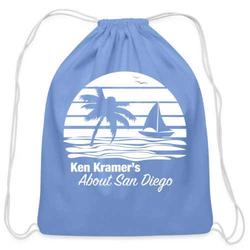Ken's Awesome Monochrome Logo - Cotton Drawstring Bag