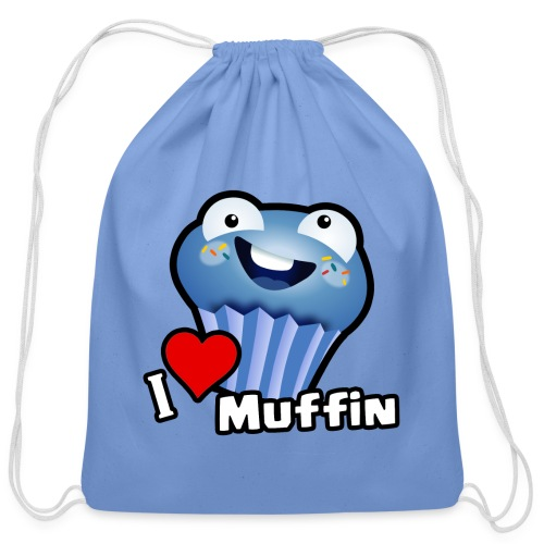 I Love Muffin - Cotton Drawstring Bag