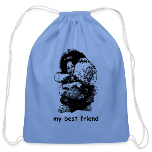 My best friend (girl) - Cotton Drawstring Bag