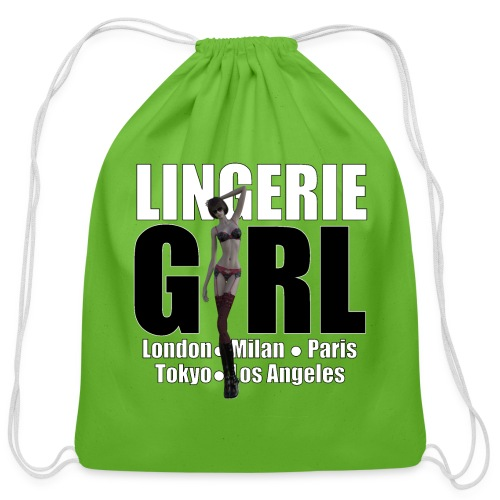 The Fashionable Woman - Lingerie Girl - Cotton Drawstring Bag