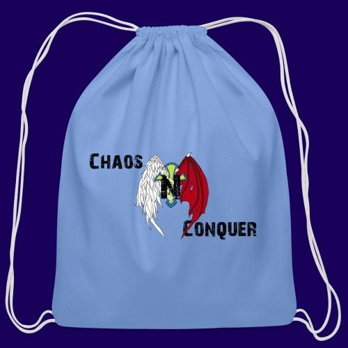 ChaosNConquer Design Logo - Cotton Drawstring Bag