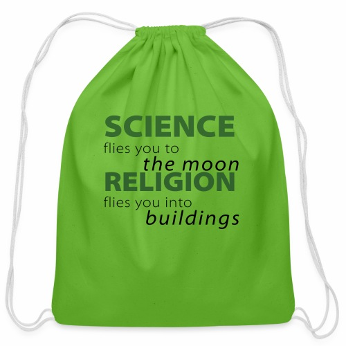 Science, Fly me to the Moon - Cotton Drawstring Bag