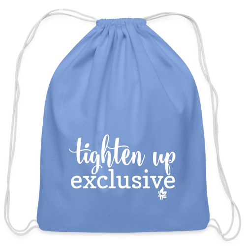 tighten up exclusive white clear - Cotton Drawstring Bag