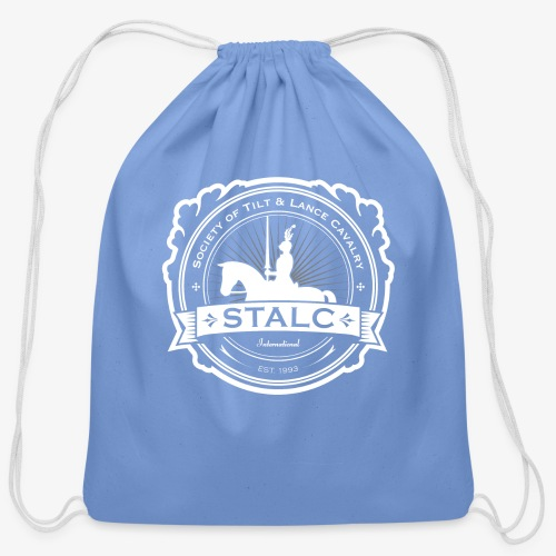 STALC Logo White only - Cotton Drawstring Bag