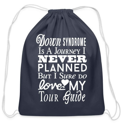 Down syndrome Journey - Cotton Drawstring Bag