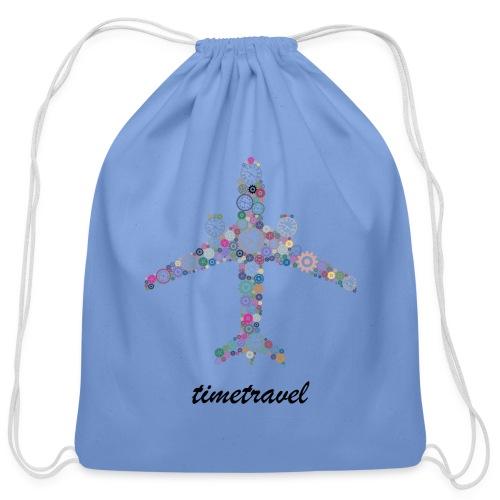 Time To Travel - Cotton Drawstring Bag