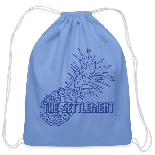 Pineapple with Band Name | The Settlement - Cotton Drawstring Bag