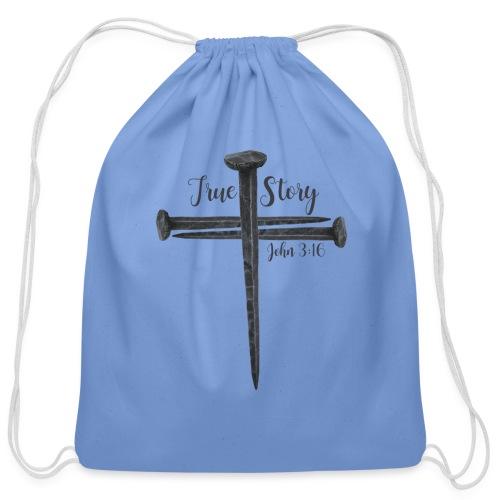 True Story John 3:16 - Cotton Drawstring Bag