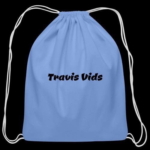 White shirt - Cotton Drawstring Bag