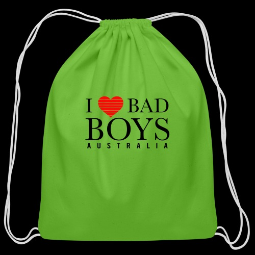I LOVE BADBOYS - Cotton Drawstring Bag