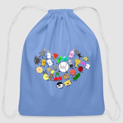 Inanimate Heart Color - Cotton Drawstring Bag