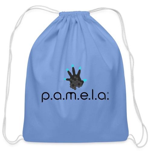 P.A.M.E.L.A. Logo Black - Cotton Drawstring Bag