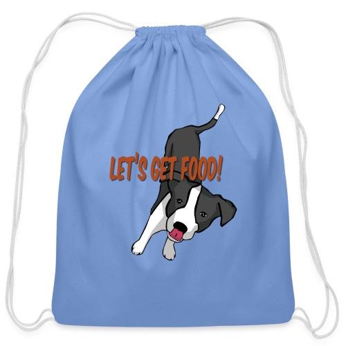 Foodie Dog Border Collie - Cotton Drawstring Bag