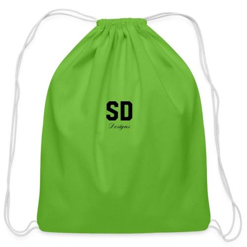 SD Designs blue, white, red/black merch - Cotton Drawstring Bag
