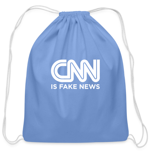 CNN Is Fake News - Cotton Drawstring Bag
