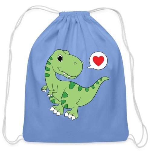 Dinosaur Love - Cotton Drawstring Bag