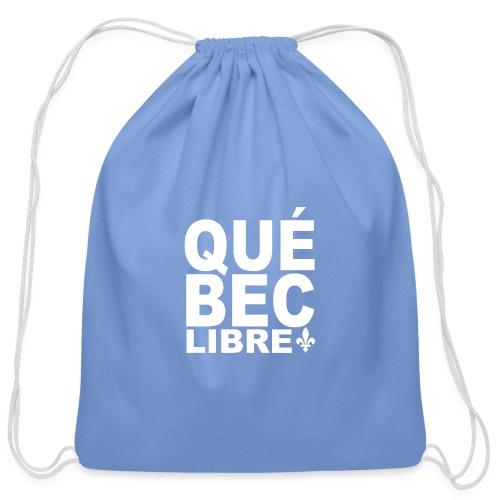 Québec libre - Cotton Drawstring Bag