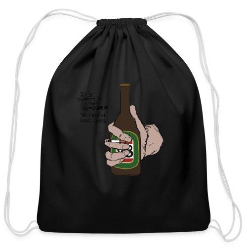 it's twenty to eight somewhere - Cotton Drawstring Bag