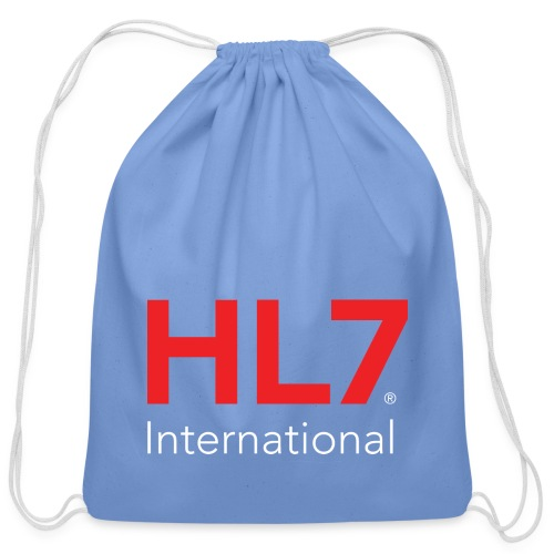 HL7 International Logo - Reverse - Cotton Drawstring Bag