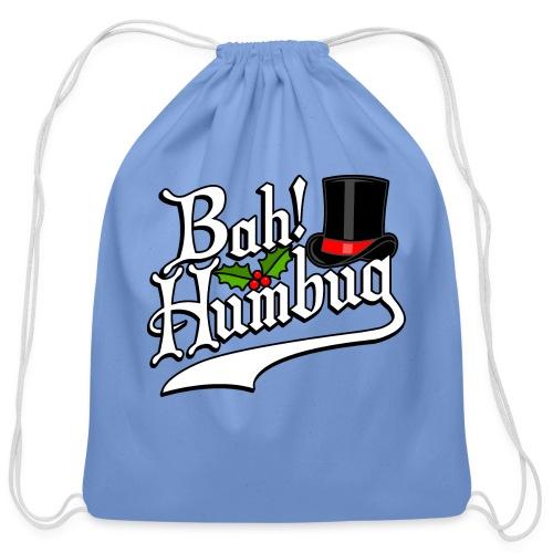 Bah Humbug Christmas Scrooge Funny No Humbuggery - Cotton Drawstring Bag