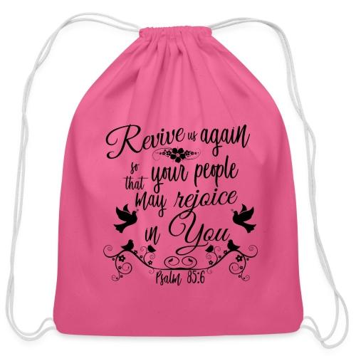 Revive us Again - Cotton Drawstring Bag