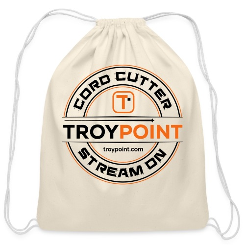 TROYPOINT Cord Cutter - Navy Logo - Cotton Drawstring Bag