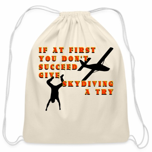 Try Skydiving - Cotton Drawstring Bag