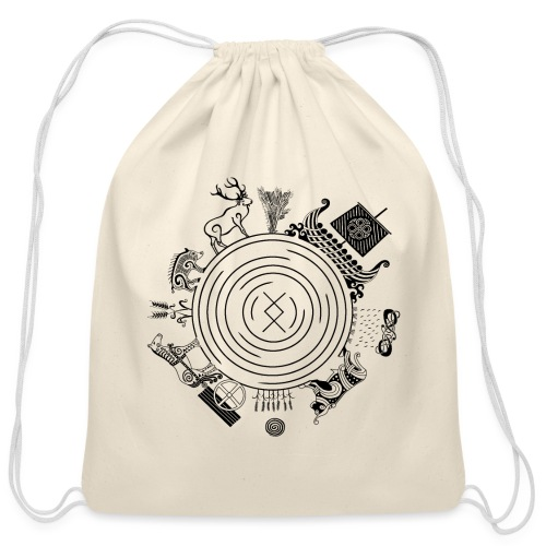 Freyr - God of the World - Cotton Drawstring Bag