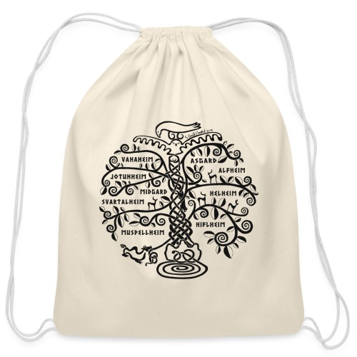 Yggdrasil - The World Tree - Cotton Drawstring Bag